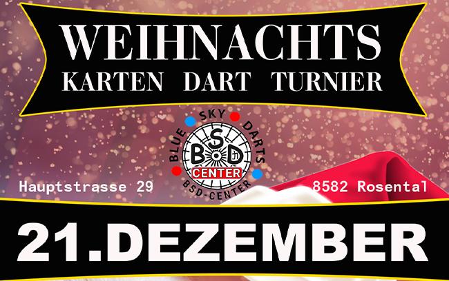 Weihnachts Karten Dart Turnier 21.12.2019