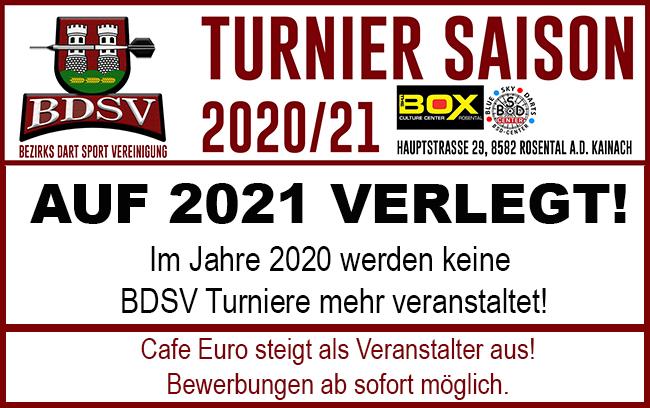 KEINE BDSV TURNIERE 2020! Veranstalter steigt aus.