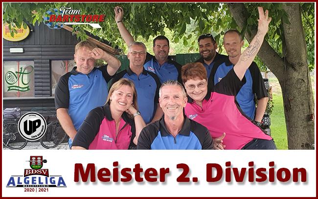 Team Dartstore Meister in der 2. Division