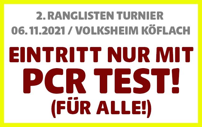 PCR Testpflicht auch für geimpfte!